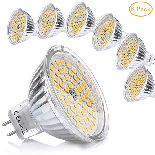 Yafido 6x MR16 LED 12V GU5.3 Bombilla 5W Blanco Calido Equivalente a...