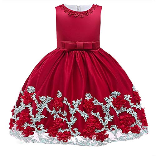EARIAL& Baby Girls Party Dress 2018 Elegant Girl Evening Dress for Wedding Birthday Kids Dresses for 2 to 10 yeas Girls Clothes Lavender 3T (Shirt Junior-elmo)