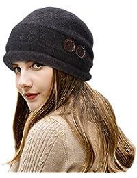 d164efaaeb3 Lawliet Ladies Vintage Elegant Wool Cloche Hat Winter Warm Berets
