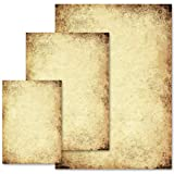 50 fogli di carta da lettera decorati Certificato CARTA ANTICA DIN A4 - Paper-Media