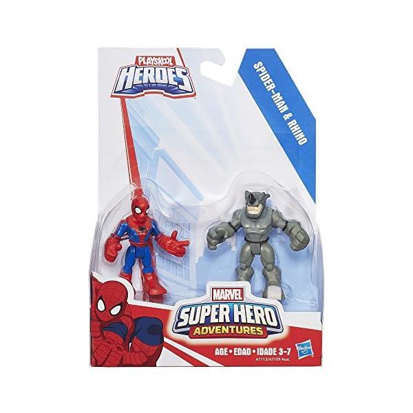 Playskool Heroes Marvel Super Hero Adventures Spider-Man y Rhino Cifras 2