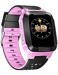 MiniInTheBox ips 1.44 '' pantalla táctil reloj inteligente niños gps perseguidor SOS del anti-perdidos niños inteligentes buscador de pulsera de (Rosa)
