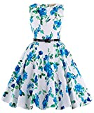 Girls Print Sleeveless Vintage Swing Dressses 3#(11-12yrs)