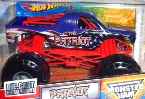 2011 THE PATRIOT - 1:24 Scale (Large Version) Hot Wheels Monster Jam Truck with Monster Tires, Working Suspension and 4 Wheels Steering by Hot Wheels (1 24 Scale Monster Jam-trucks)
