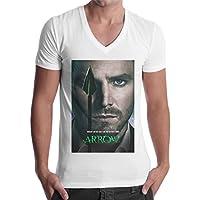 T-Shirt Uomo Scollo V Arrow Freccia Verde Serie Tv Locandina