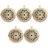 Sharplace 1pcs Pendante de Médaillon Joli Diffuseur D'huiles Essentielles Parfum Aromathérapie Pr DIY Collier - Bronze Antique