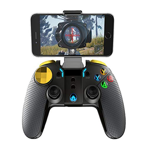 Mobile Action Bluetooth (SUNSEATON PUBG Mobile Game Controller,Bluetooth Drahtlose Gamepad Controller,Joysticks für 4-5,5 Zoll iPhone Android Smartphone, 20 Stunden Spiel, 400mAh Batterie, Geeignet für Tablet,PC)