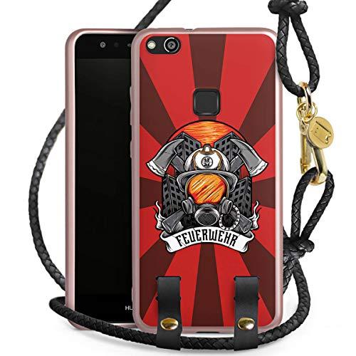 DeinDesign Carry Case kompatibel mit Huawei P10 lite Handykette rosé Gold Handyhülle zum Umhängen Feuerwehr Rettungsdienst Feuerwehrmann