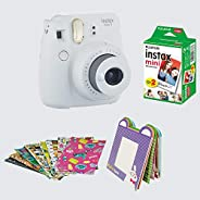 FujiFilm Instax Camera Mini 9 Bundle Pack (Smoky White)