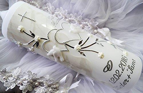 Hochzeitskerze 250/70 mm inkl. Beschriftung H-602