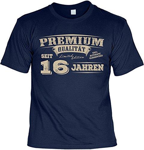T-Shirt 16 Geburtstag - Geburtstagsshirt Sprüche 16 Jahre : Premium Qualität Seit 16 Jahren - Geschenk-Shirt Zum 16.Geburtstag Mädchen/Jungs Gr: M