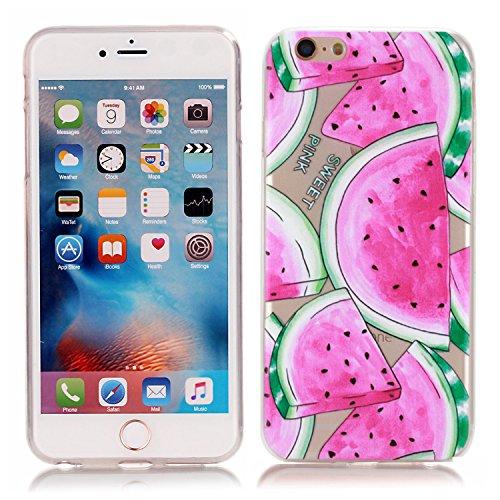 Cover iPhone 6S 6, EUFO Custodia Cover Apple iPhone 6S 6 Trasparente con Disegni Unicorno Silicone Morbido TPU Gomma Ultra Slim Sottile Bumper Back Case Copertura Protezione ProtettivaResistenti Anti Anguria