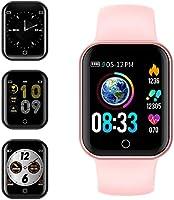 Smartwatch, KUNGIX Reloj Inteligente Impermeable IP68 Pulsera de Actividad Inteligente con Monitor de Sueño Pulsómetros...