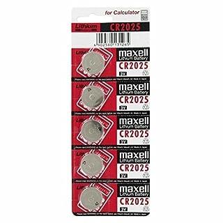 Maxell CR2025 Lithium Battery IEC CR2025, 5er Set