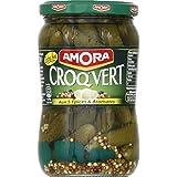 Amora - Croq'Vert - Extra-Fins Cornichons aux 5 épices et aromates - Poids net égoutté 210g - Prix Unitaire -...