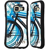 Head Case Designs Vélo Blues Cyclopedia Étui Coque Hybride pour Samsung Galaxy A3 (2016)