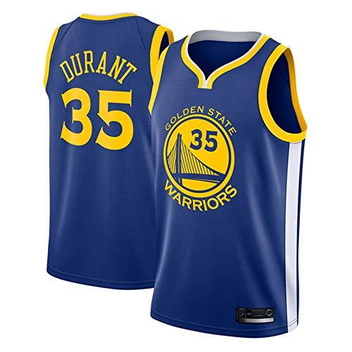 Uomo Gilet da Basket NBA Warriors 35# Durant Jersey Canotte da Basket Estiva da Ricamo