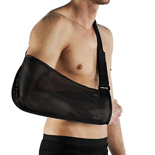 Deluxe Stoff (xtramile Deluxe Ultra Atmungsaktiv Armschlinge, Medical Grade Qualität mit Hüftgurt, atmungsaktiv, leicht Stoff, Comfort Fit, hilft Unterstützung & Elevate Arm, Verletzungen Recovery, Pre/Post surgery-one Größe Unisex)