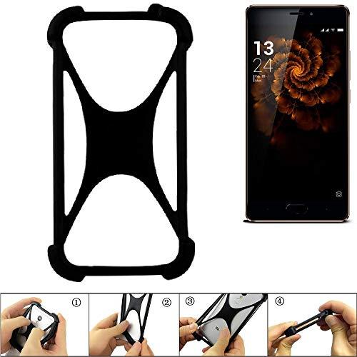 K-S-Trade Handyhülle für Allview X3 Soul Pro Schutz Hülle Silikon Bumper Cover Case Silikoncase TPU Softcase Schutzhülle Smartphone Stoßschutz, schwarz (1x)