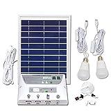 Portátil Mobile Solar Iluminación Sistema, con 1 * 1W E27 Bombilla LED y 1 * 2W E27 Bombilla LED e incluye batería de 3.7V 5000mAh Rechargable, para interior actividades al aire libre