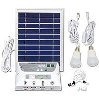 Portátil Mobile Solar Iluminación Sistema, con 1 * 1W E27 Bombilla LED y 1 *