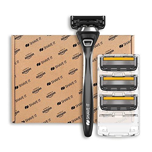 Amazon Exklusiv - Shave It Pro, 5-Klingen-Rasierer, Griff + 4 Klingen
