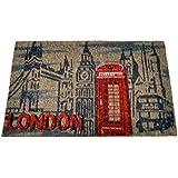 Arte Regal Import 30779 - Felpudo, diseño London, 40 x 60 cm, multicolor