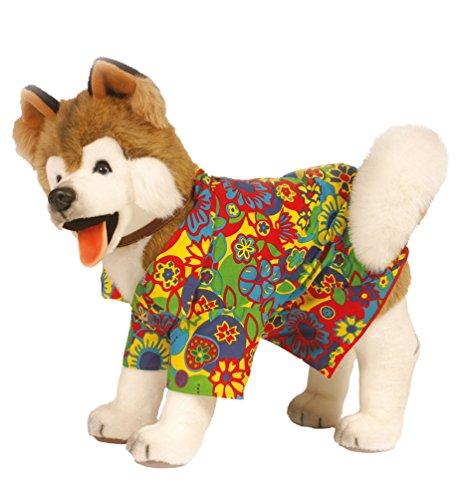 und Kostüm Karneval Hundekostüm Hippie für Hunde Karneval Hund-Kostüm Größe L ()