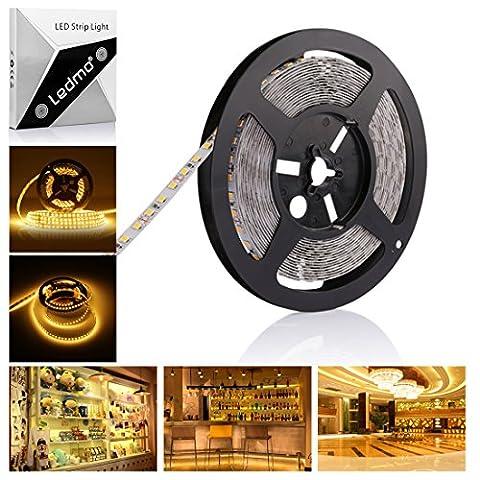 Led Strip Streifen Leiste Lichtband Lichtleiste Lampe Indirekte Beleuchtung Unterbauleuchte smd 600 LEDs TV Licht 12v 5m warmweiß 2700k selbstklebend