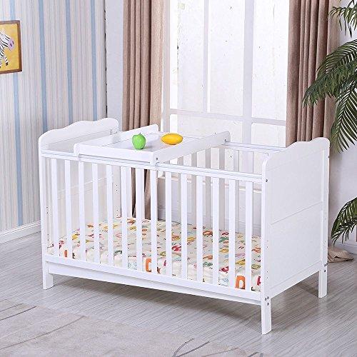 UEnjoy Babybett Kinderbett Gitterbett Juniorbett Komplettbett Bettset Weiß Babyzimmer