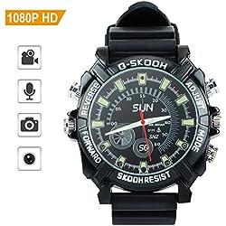 TOUGHSTY 16GB 1080P HD Reloj Digital Deportivo Camara Espia Oculta Mini Grabador de Audio y Video