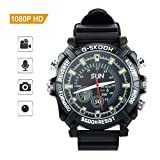 TOUGHSTY 16GB 1080P HD Reloj Digital Deportivo Camara Espia Oculta Mini Grabador de Audio y Video