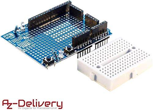 AZDelivery Prototyping Prototype Shield Mini Breadboard für Arduino UNO R3