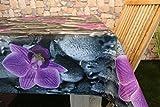 Kamaca Wetterfeste Outdoor – Tischdecke mit wunderschönem Motiv - (130 x 160 cm Eckig, Flower)