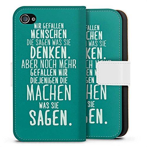 Apple iPhone SE Silikon Hülle Case Schutzhülle Sprüche Statement Spruch Sideflip Tasche weiß