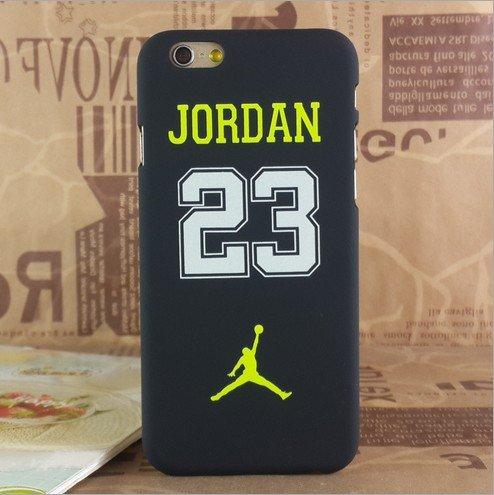 Coque rigide phosphorescente en polycarbonate avec logo Air Jordan pour iPhone 5/5S et 6/6S., NO.23 YELLOW, APPLE IPHONE 6/6S