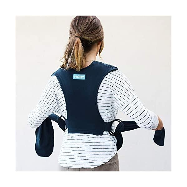 Moby Fit Baby Wrap Carrier In Midnight Blue for Newborn to Toddler Up to 30lbs, Baby Sling from Birth, One Size Fits All, Breathable Stretchy made from 100% Cotton, Unisex Moby One-size-fits-all for babies 8-30 lbs Easy to slip on and adjust for a custom fit Grows with baby, from new-born to toddler 4