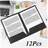 12pcs A4 2pockets File Carta Kraft Porta Cartelle nelle Schede Documento Cartella File di Office Presentazione del Progetto Cartella Nero