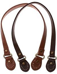Baoblaze 2er Set Abnehmbar PU Leder Taschengriffe Taschengurt Umh/ängegurt f/ür Taschen mit Nieten 60 cm
