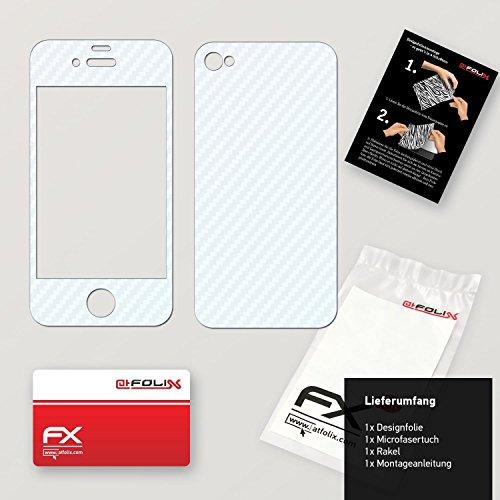 "Skin Apple iPhone 4 / 4s ""FX-Carbon-Black"" Sticker Autocollant FX-Carbon-Bicolor-Pearl"