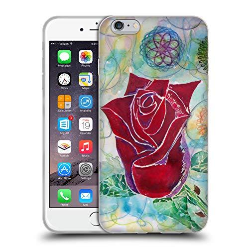 Head Case Designs Offizielle Lauren Moss Rose-Knospe Blumen Soft Gel Hülle für iPhone 6 Plus/iPhone 6s Plus