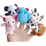 10pcs Animal Finger Puppet Gloves Plush Doll Child Baby Early Education Toys Gift Interactive Set