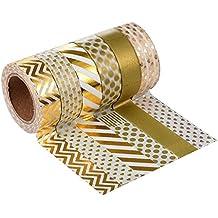 Masking tape Washi tape Nastro Adesivo Decorativo DIY Washi Nastro Scrapbooking Sticker set di 10 Multicolore -Très Chic Mailanda