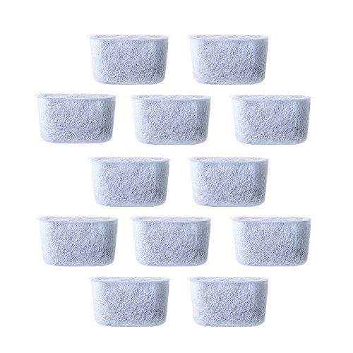 Ersatz Aktivkohle, 12Stück Vlies Aktivkohle Wasser Filter kompatibel Passform Filter, für Cuisinart Kaffee