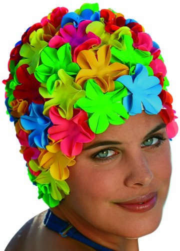 Fashy 3191 cuffia da bagno donna, design: fiori, articolo colorato (bunt), taglia unica