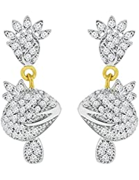 Spargz Ethnic Gold Plated With CZ Stone Jhumki Earrings For Women AIER 583