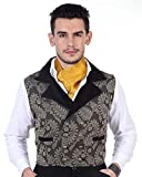 ThePirateDressing Steampunk Victorian Gothic Punk Vampire Brocade Double Breasted Waistcoat Costume C1324
