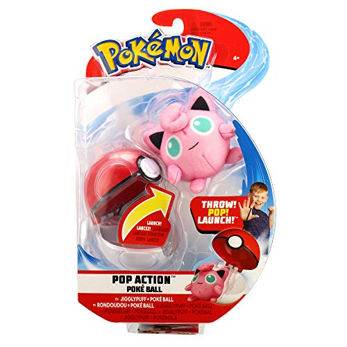 Pokémon Pop Action Jigglypuff & Poké Ball - Newest Edition 2019, Catch 'Em All!