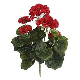 MICA Decorations 975263Flores de plástico, geranios, Grandes, Color Rojo