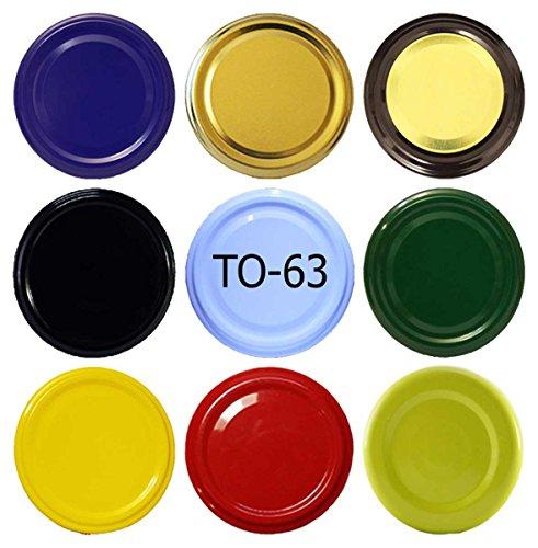 100 Stück X to 63 mm Honig Schraubdeckel für Gläser • Twist Off Deckel Verschluss Ø 63mm • Ersatzdeckel To63 • 25,50,100,150,200,250,500 Stück • Große Auswahl Verschiedene Größen und Farben